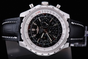 Great Breitling Bentley Automatic Movement Black Leather Band AAA Watches [D5K7]