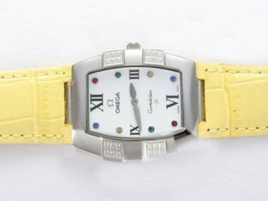 Vintage Omega Constellation Diamond met witte wijzerplaat Lady Size AAA Watches [T3D4]