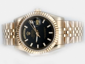 Fancy Rolex Day-Date Automatic Full Gold with Black Dial AAA Watches [D9O4]