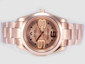 Great Rolex Air-King-Oyster Perpetual Automatiske Fuld Rose Gold