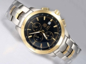 Fancy Tag Heuer Link 200 Meters Working Chronograph Two Tone AAA