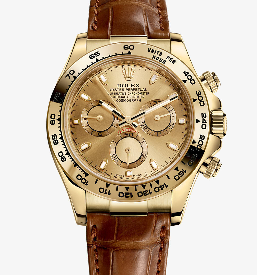 Replica Rolex Cosmograph Daytona Watch: oro giallo 18 ct - M116518-0131 [4528]